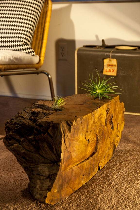 Redwood Wedge Side Table. Ryan Benoit Design 2013.
