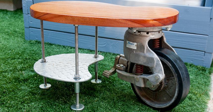Industrial Caster Side Table. Ryan Benoit Design, 2013.
