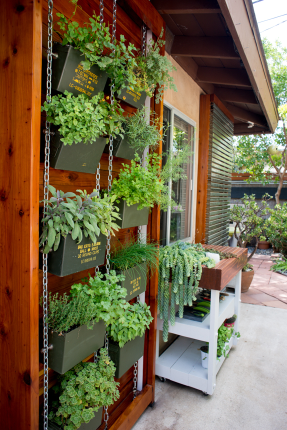 Ammo Can Vertical Herb Garden. Ryan Benoit Design, 2013.